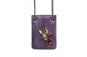 Purple Snake Messenger with Multicolored Stones